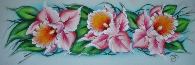 pintura em tecido porta assadeira flores