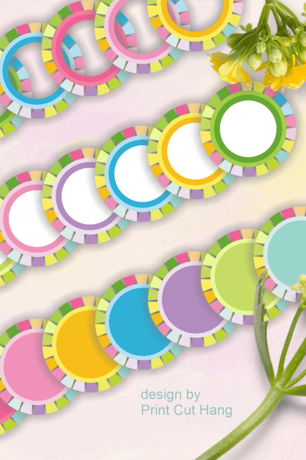 SPRING CIRCLES CLIPART PNG