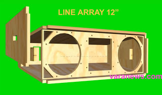 Skema Box Speaker Line Array 12 Inch Lapangan