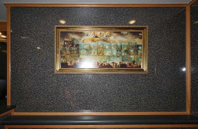 Shelf, Artwork in the North Shore Restroom