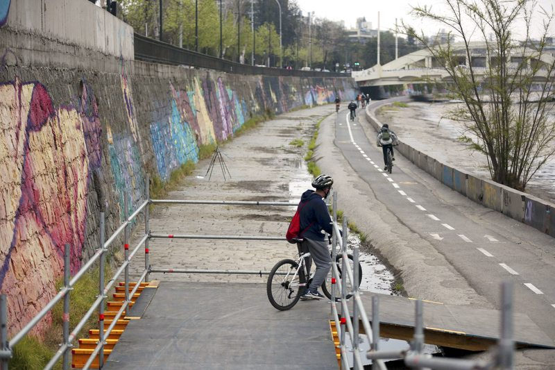 ciclovía del río Mapocho está operativa