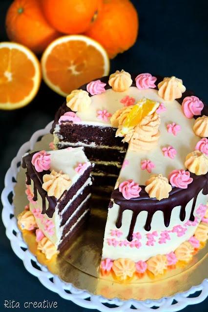 tort z orange curd - rita creative