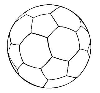 Bola para colorir, pintar ou imprimir – riscos e moldes de bola – brinquedo para colorir futebol