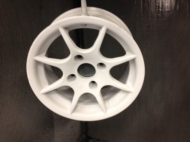 Wheels with Powder Lacquer coat before final baking.
