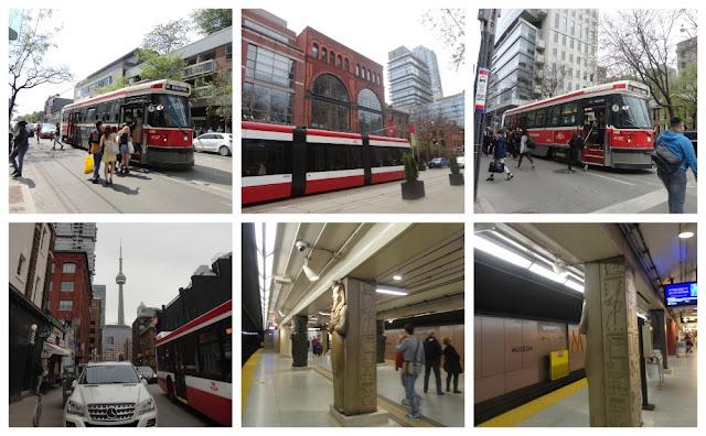 Transporte público em Toronto - streetcar, ônibus e estação de metrô