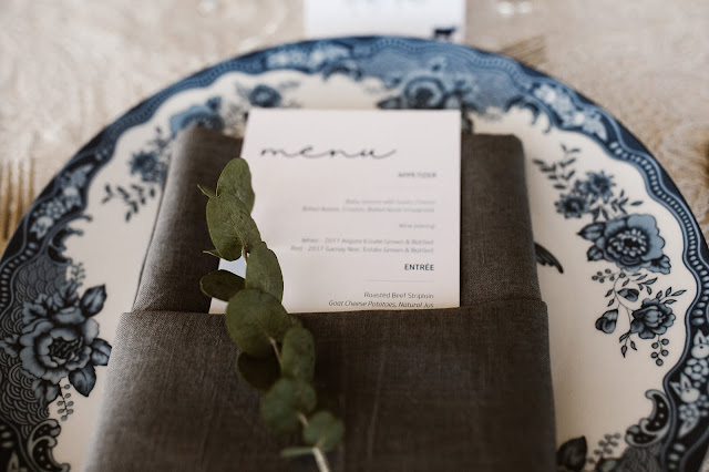 Niagara Wedding Planner - A Divine Affair - Marlene and Andy - Photo by Reed Photography - Church Ceremony with Wedding reception at Chateau des Charmes Winery in Niagara on the Lake. Tent wedding with gold,  blue and peach decor and floral details.