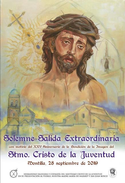 Horario e Itinerario de la Procesión Extraordinaria de la Hermandad Salesiana de la Juventud de Montilla