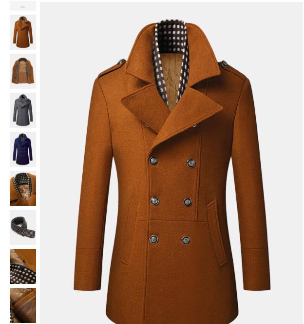 Męskie płaszcze zimowe.