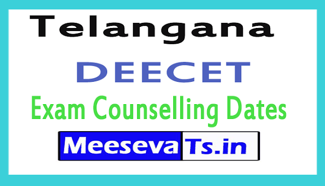 Telangana DEECET Exam Counselling Dates