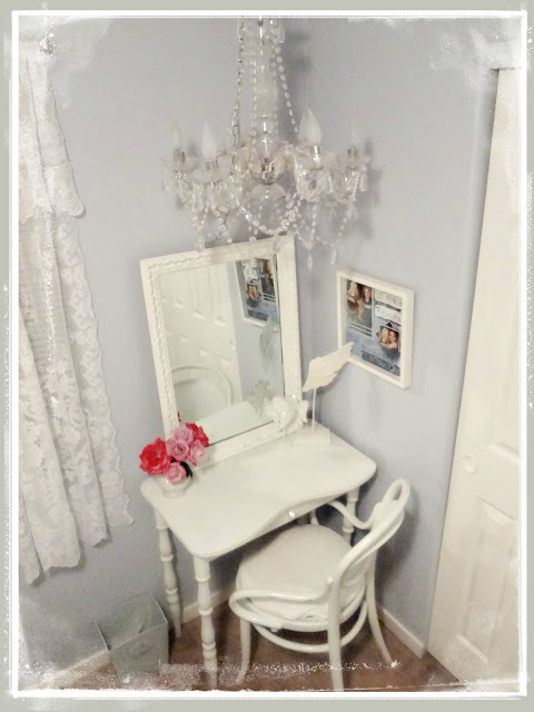 Not So Shabby Shabby Chic Chandelier In Guest Bedroom
