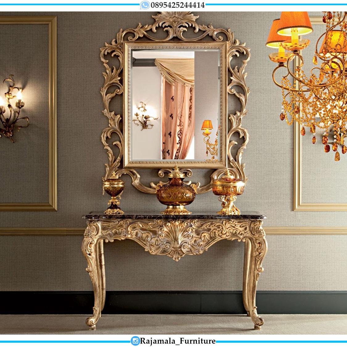 Meja Konsul Mewah Jepara Luxury Carving Baroque Style RM-0281