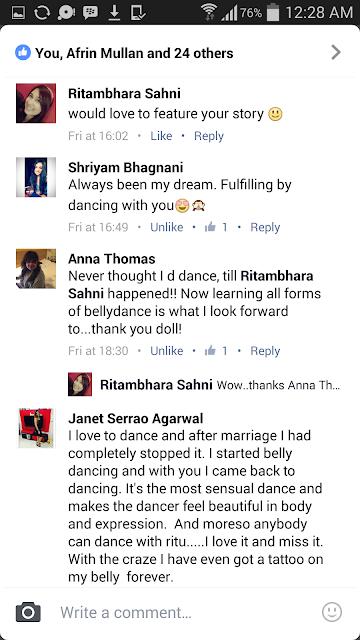 RITAMBHARA SAHNI'S BELLY DANCE INSTITUTE MUMBA