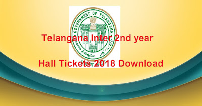 Telangana TS Inter 2nd year Hall Tickets 2018, Manabadi TS Sr Inter Hall Tickets 2018 Download
