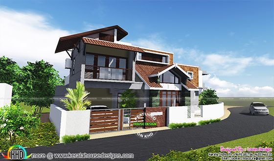 4 BHK, 2650 square feet modern home