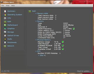 Cara Mengetahui Tipe RAM DDR Pada PC