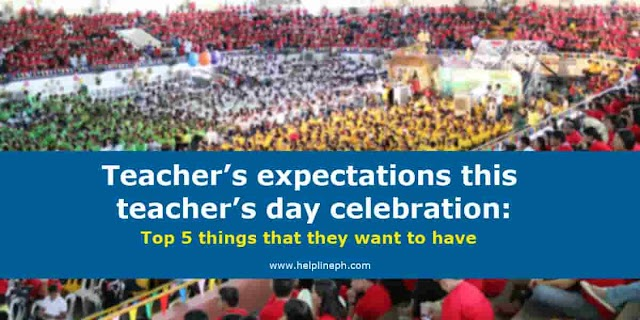 Teacher's expectations this teacher's day celebration: top 5 things that they want to have