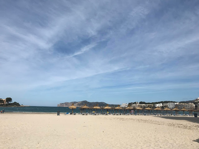 Santa Ponsa beach on a cloudy morning in May