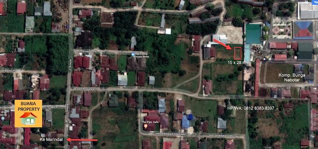 Peta lokasi tanah murah SHM ukuran 15 x 28 m SHM di Jl Pendapatan 3 - Jl Kongsi Marindal Medan Sumatera Utara