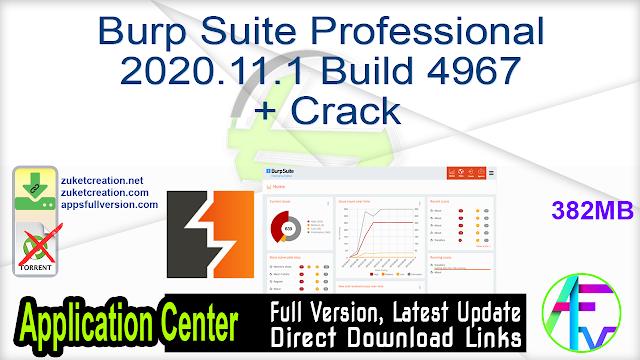 Burp Suite Professional 2020.11.1 Build 4967 + Crack