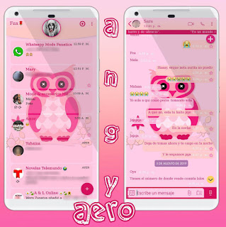 Sweet Owl Theme For YOWhatsApp & Fouad WhatsApp ByAngyfenix