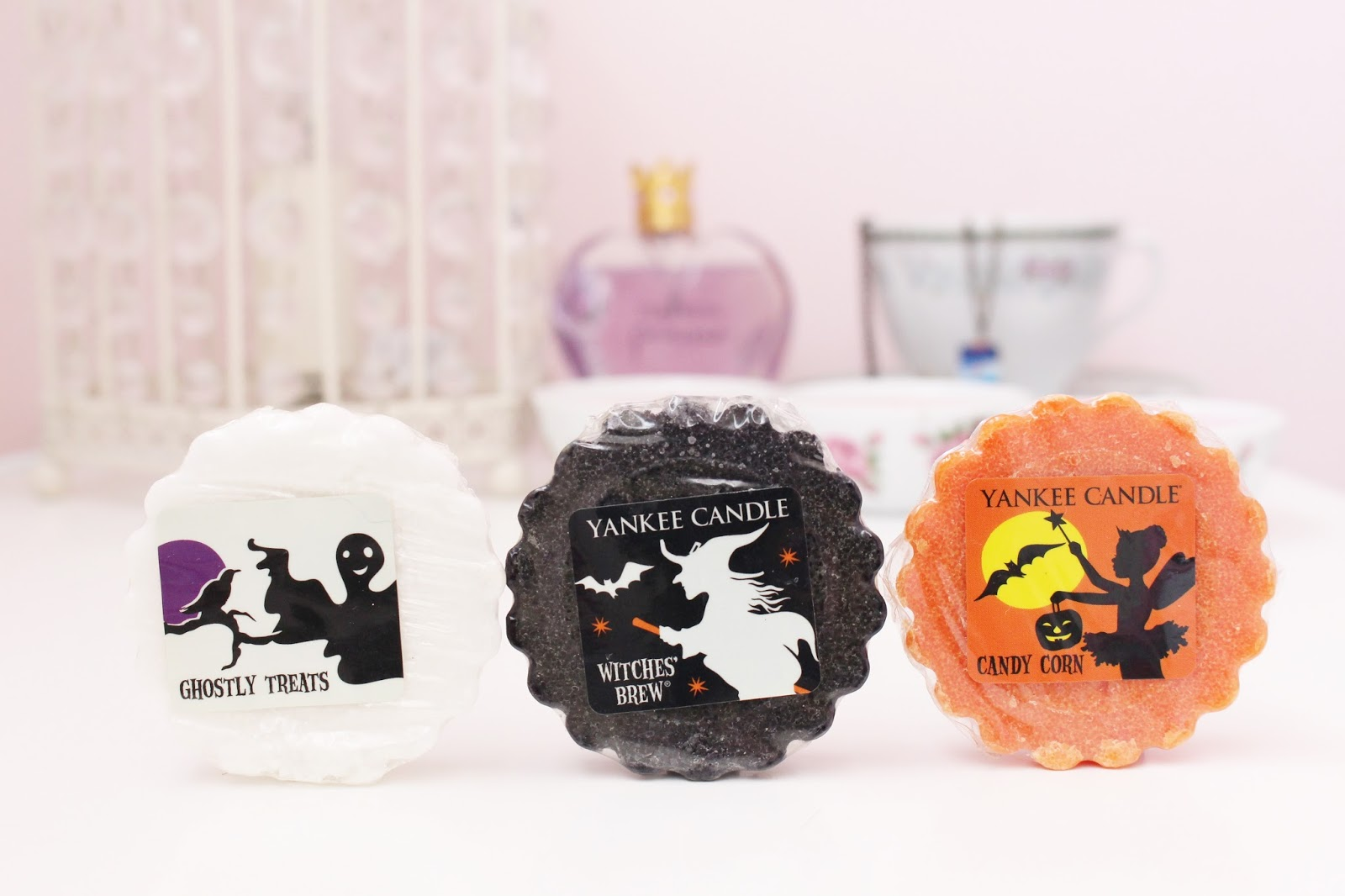 Yankee Candle Ghostly Treats, Witches Brew and Candy Corn Wax Tarts