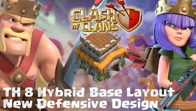 Base Hybrid TH 8 di Clash Of Clans Terbaru 2017