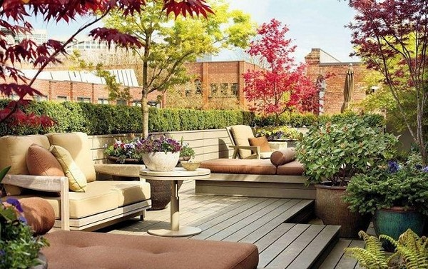 Another Example of Rooftop Garden Design for Beautiful Rooftop Patio Idea