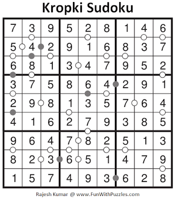 Solution of Kropki Sudoku Puzzle (Fun With Sudoku #269)