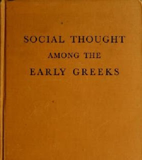 Social thought among the early Greeks