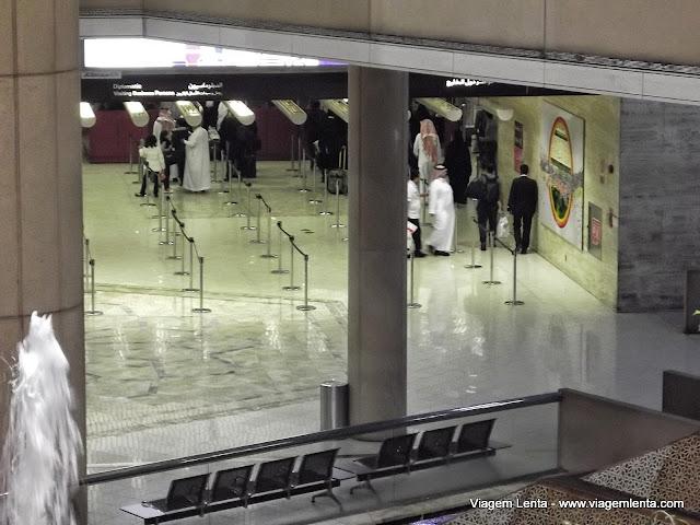 O aeroporto de Riyad