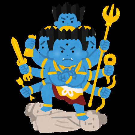 降三世明王のイラスト