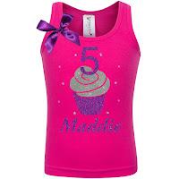 5th Birthday Shirt - Purple Berry Cupcake