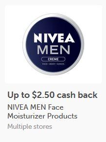 $2.50/1 NIVEA MEN Creme  ibotta CASH BACK Rebate *HERE*