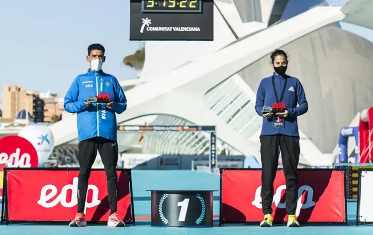 parciales record espana maraton