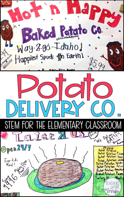 STEAM Activity- this multi-day event has students creating a potato delivery company. They test potatoes to keep them warm and crush proof, design ads, and perform a commercial.