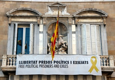 pro-independence symbol from a government building