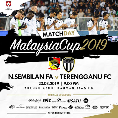 Live Streaming Negeri Sembilan vs Terengganu, Piala Malaysia 23.8.2019