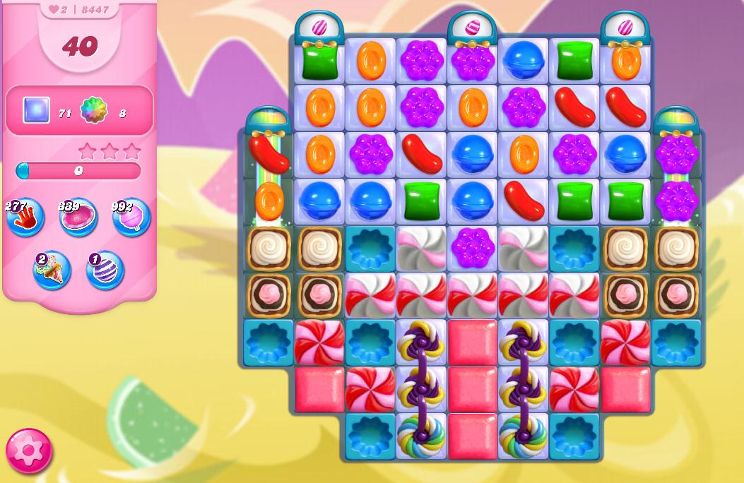 Candy Crush Saga level 8447