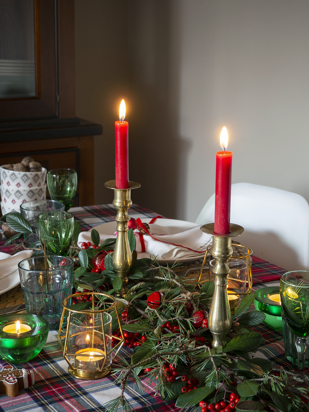 Nuestra mesa navideña en cuadros escoceses24