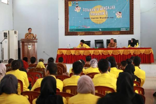 110 Mahasiswa UI Ikut Gerakan Mengajar di Pesisir Barat