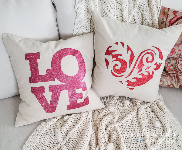 diy pillows with cricut iron on designs
