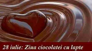 28 iulie: Ziua ciocolatei cu lapte
