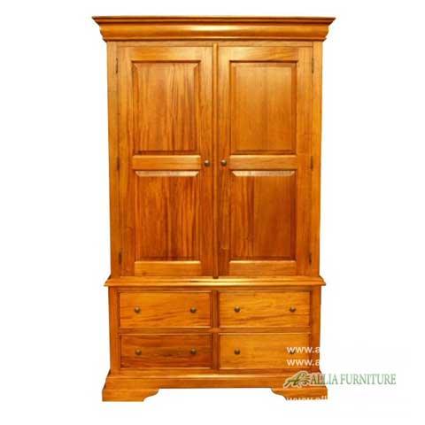 lemari pakaian 2 pintu klasik model kiev
