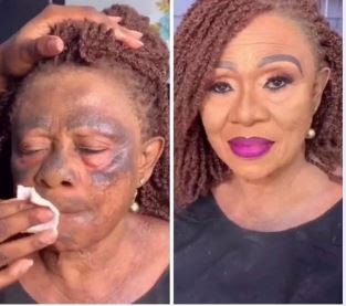 The Make-up Transformation Of Old Woman That Got People Talking (photos)