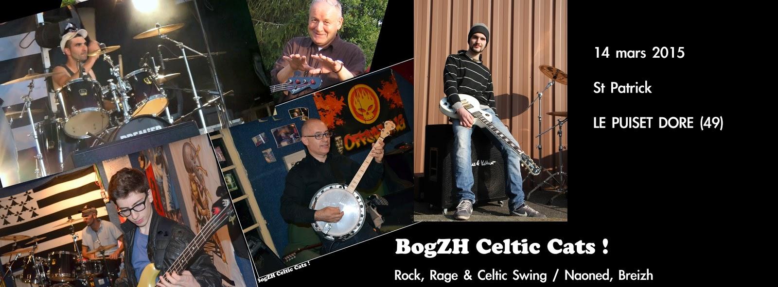Fête de la Saint Patrick BogZH Celtic Cats ! Rock celtique punk folk irish trad