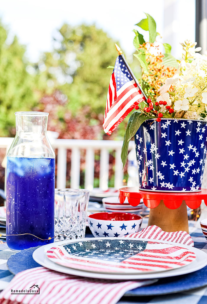 fourth of July - Memorial day table