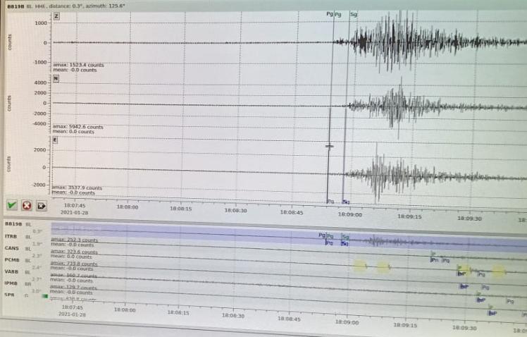 Tremor de terra com magnitude 2.8 é registrado em Cajobi