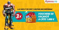 Castiga 3 VOUCHERE DE VACANTA a cate 1.000 de Euro - concurs - epiesa - castiga.net