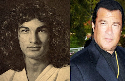 Kunzang Seagal's father Steven picture then & now