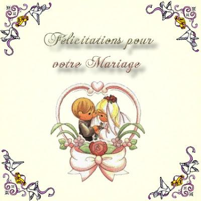 carte de mariage texte félécitation